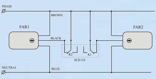 Схема подключения 2 зонных